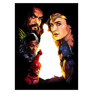 Justice League. Размер: 40 х 55 см